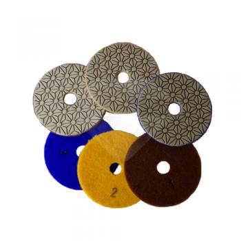 Алмазный гибкий шлифовальный круг 3 STEP (КОМПЛЕКТ)