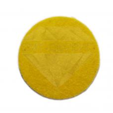 Войлочный полировальный круг жесткий, тонкошёрстный (фетр) Ø 100/тонкошёрстный/Velcro h-6 mm.