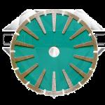 """Алмазный отрезной круг с воздушным охлаждением """"вогнутый"""", для криволинейного реза Китай FY."""